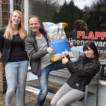Donatie voor opvang Flappus